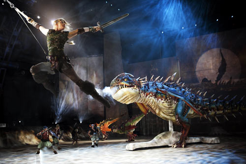 how to train a dragon live